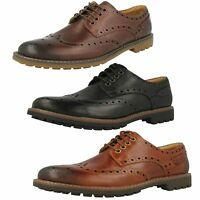 Mens Clarks Montacute Wing Leather Casual Lace Up Brogue Shoes G Fitting