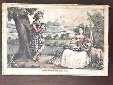 RARE ANTIQUE 1860 PUZZE YOUNG DONALD AND LADY JANE - T.S. WAGNER – ONLY 1 REMAIN