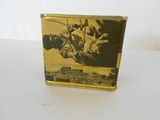"""Vintage Tea Tin with Indigenous Population Pictures, 3.50"""" x 3.25"""""""