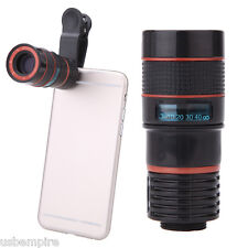 Clip-on 8x Zoom Optical Telescope Camera Lens Universal for Smartphone Iphone 6