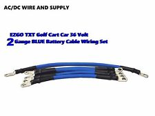 2 Awg HD Golf Cart Battery Cable 5 pc Set BLUE E-Z-GO 94/UP TXT 36V  U.S.A MADE