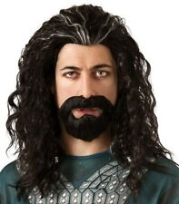 Adult Movie Lord of the Rings Hobbit Dwarf Thorin Oakenshield Costume Wig Beard