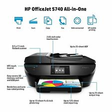HP OfficeJet 5740 Wireless All in One Photo Printer with Mobile Printing NEW