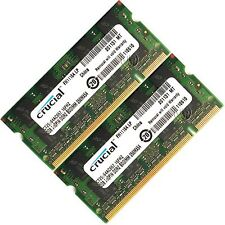Crucial 4gb 2x2gb pc2-5300 pc5300 ddr2 667 MHz PORTATILE MEMORY SO-DIMM 200pin RAM