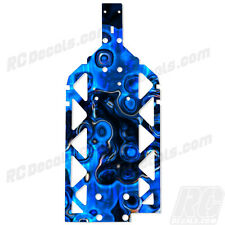 HPI BAJA 5B SS 5T 5SC Chassis Plate Protector - Thick Graphics - Lt Blue Flame