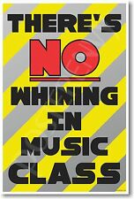 There's No Whining in Music Class - NEW Funny Classroom POSTER (cm1195)