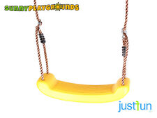 SWING SEAT YELLOW Plastic Set With Rope Accessories Playground  Outdoor Kids