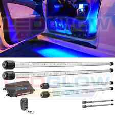 NEW! 6pc BLUE LEDGLOW UNDERBODY UNDERGLOW CAR LIGHTING KIT w LED INTERIOR LIGHTS