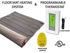 15 SQFT MAT Electric Floor Heat Tile Radiant Warm Heated with Digital Thermostat