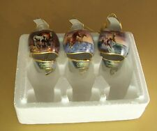 Ornament Set OF 3 FREE AS THE WIND Horse Elegant Treasures Exquisite Wonders ++