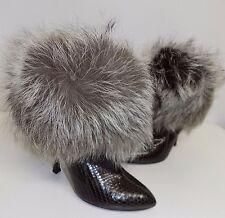 stivale donna firmato rossi sergio 38.5  39.5  pelle marrone shoes boots