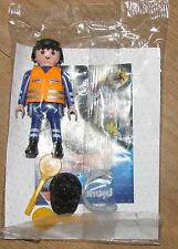 Playmobil Figure Airport Service Aircraft Marshal Plane controller headphones
