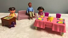 Dora the Explorer Talking Doll House Furniture & Figure Lot Papi Father Couch