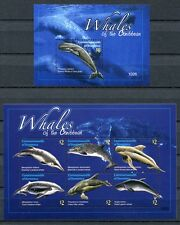 DOMINICA 2010 Wale Whales Meerestiere 4108-4113 + Bl.549 ** MNH