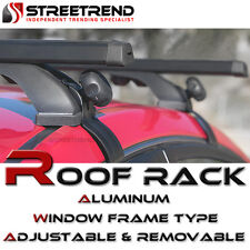 "50"" Black Aluminum Roof Rack Cross Bars Carrier Window Frame Adjustable Kit SK11"