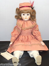 Heritage Mint Heather America's Doll Porcelain Head Hands Feet Collectible Doll