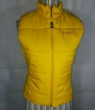 Women's Vintage 90s Tommy Hilfiger Jeans Puff Vest Yellow Small EUC