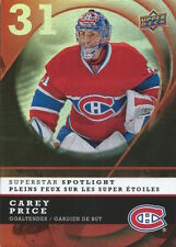 (HCW) 2008-09 McDonalds Superstar Spotlight #IS1 CAREY PRICE Canadiens 01379