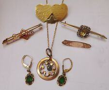 COLLECTION OF  ANTIQUE ROLLED GOLD   JEWELLERY