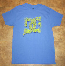 DC Shoes logo tee t-shirt size L Large *NEW* blue and yellow The Buckle Pac Sun