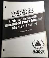 1992 ARCTIC CAT CHEETAH TOURING SNOWMOBILE PARTS  MANUAL P/N 2254-745  (121)
