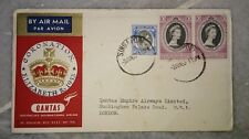 1953 Lot #2 Singapore Qantas First Flight FDC QE Queen Elizabeth II Coronation