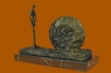 Bronze Sculpture Giacometti Tribute Museum Quality Marble Base Figurine Figure