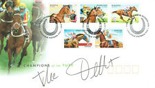 Frankie DETTORI Signed Autograph Champions of the Turf Racing FDC COA AFTAL