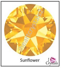 SUNFLOWER Yellow Swarovski 30ss 6.5mm Crystal 2088 Flatback Rhinestones 6 pieces
