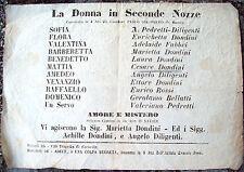 1867 VOLANTINO TEATRO DI UNA COMMEDIA DI PAOLO GIACOMETTI DA NOVI LIGURE