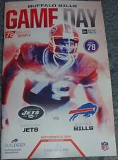 BUFFALO BILLS Gameday Program BRUCE SMITH Jersey Retirement 9/15/16 NY Jets 2016