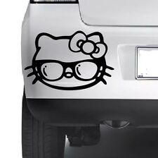 Hello Kitty Shades Car Window Bumper Wall JDM VW VAG Novelty Vinyl Decal Sticker