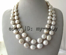 Double White Unusual Baroque Keshi KEISHI Freshwater Pearl Necklace