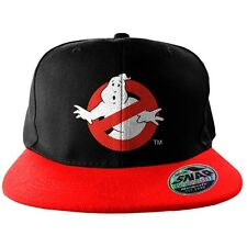 Official Ghostbusters No Ghost Logo Embroidered Red and Black Snapback Cap Hat