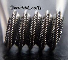 SALE! 2 NICHROME Mohawk Alien Coils w/ free coils! (Clapton, Twisted, Staple)