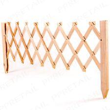 90cm EXTENDABLE OAK WOOD TRELLIS EDGING Flower Bed Fence Border Panel Garden