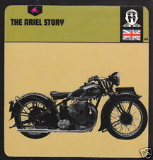 THE ARIEL MOTORCYCLE HISTORY CARD 1930 Square Four Bike