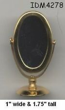Dollhouse Accessories  Miniature Mirror  Goldtone NEW IDM4275