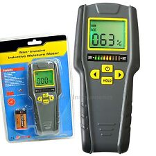 Digital Non-Destructive Inductive Moisture Meter 4 modes 0~40°C LED