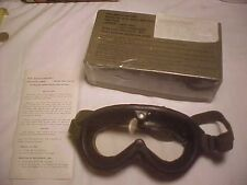 GOGGLES VINTAGE CL-GR LENSES Stemaco Inc nsn 004-2893 sun, wind, dust, W/ box