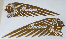 Indian Motorcycle Tank Decal Sticker GOLD Scout Custom Left & Right