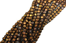 100 Red Bronze Czech Glass Cube Beads 3MM