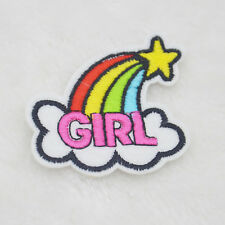 Lot Rainbow logo embroidered iron on patch sewn For clothing applique Hat badges