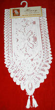 """White-Heavy lace table Runner 13""""x54"""""""