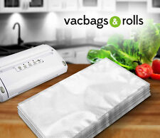 100 X Textured Food Vacuum Sealer Bags 15cm X 20cm Embossed - Italian - 100um