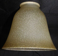 Glass Chandelier Lamp Ceiling Fan Light Cover Shade Brown Speckled Frost Bell