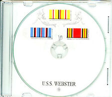 USS Webster ARV 2 CRUISE BOOK War Memory Log WWII CD