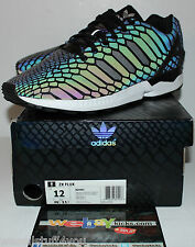 Adidas ZX Flux 3M Reflective Snake Black Multi Color Sneakers Men's Size 12 Used