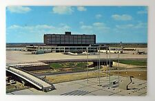 TORONTO INTERNATIONAL AIRPORT SUN DIAL VINTAGE POSTCARD ~ AEROQUAY ONE ~ CANADA