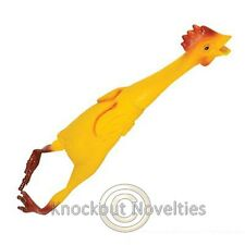 "21"" Rubber Chicken Hand Painted Gag Gift Funny Prank White Elephant Party Laugh"